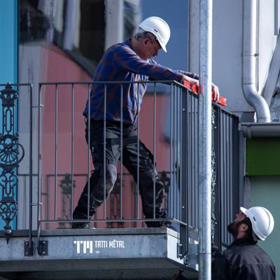 Balcon, terrasse - construction métallique