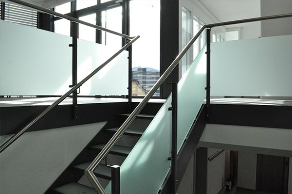 Escalier droit - construction métallique